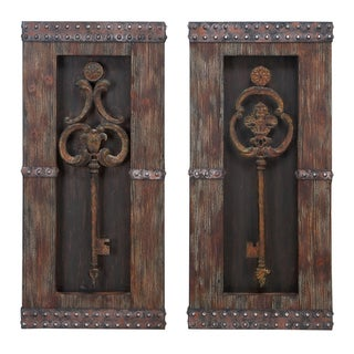 Casa Cortes Vintage Metal Keys 2-Piece Wall Art Decor Set