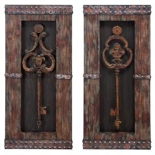 Casa Cortes Vintage Metal Keys 2-Piece Wall Art Decor Set