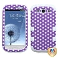 MYBAT Purple/ White Case for Samsung Galaxy S III/ S3 i9300