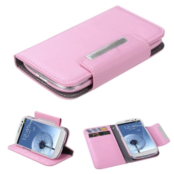 INSTEN Pink Wallet Case Cover for Samsung Galaxy S III/ S3 i9300