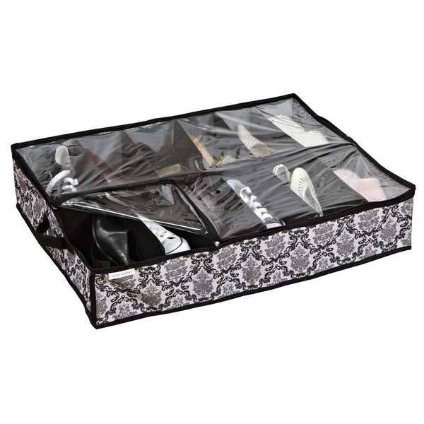 Under the bed 12 pair shoe organizer 15295771 overstock com
