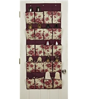Laura Ashley 20-pocket Over-the-Door Shoe Organizer