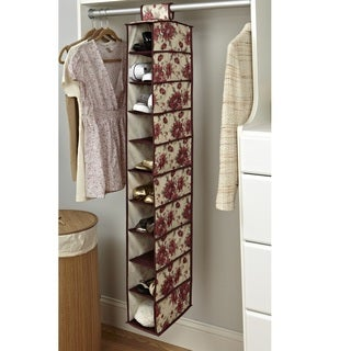 Laura Ashley 10-shelf Hanging Shoe Organizer