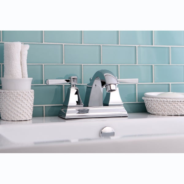 Chrome Centerset Bathroom Faucet