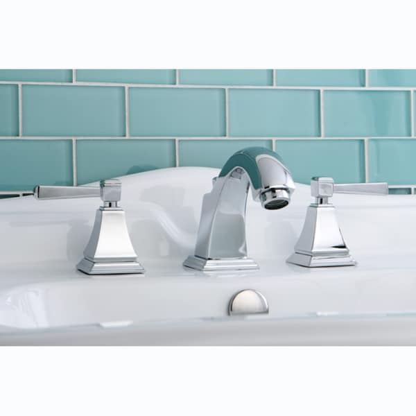 Bathroom Faucets Chrome : NuvoFusion Chrome Widespread Bathroom Faucet