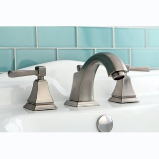 Satin Nickel Widespread Centerset Bathroom Faucet