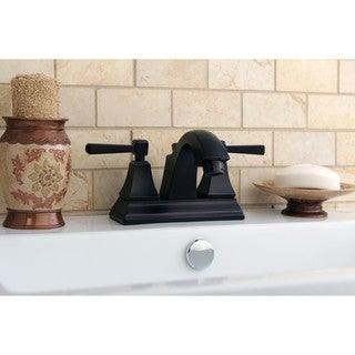 Oil Rubbed Bronze Centerset Neo-classical Bathroom Faucet