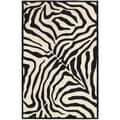 Hand-tufted Black/ Cream Area Rug (8' x 10')