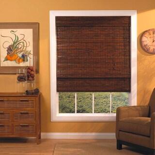 Mahogany Roman-Style Bamboo Shade