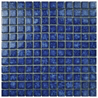 SomerTile 12 x 12-inch Tidal Square Pacific Porcelain Mosaic Tile (Pack of 10)