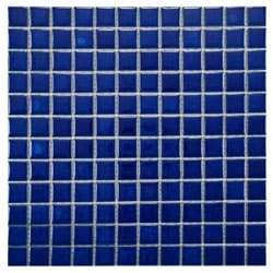 SomerTile 11.75x11.75-in Tidal Square 1-in Pacific Porcelain Mosaic Tile (Pack of 10)