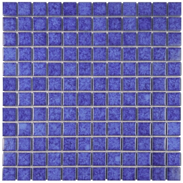 SomerTile 11.75 x 11.75-inch Tidal Square Pacific Porcelain Mosaic Floor and Wall Tile (Case of 10)