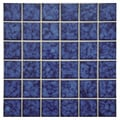 SomerTile 11.75x11.75-in Tidal Square 2-in Atlantic Porcelain Mosaic Tile (Pack of 10)