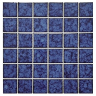 SomerTile 11.75x11.75-inch Tidal Square Atlantic Porcelain Mosaic Floor and Wall Tile (Case of 10)