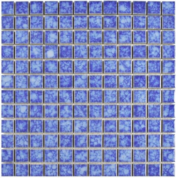 SomerTile 11.75x11.75-in Tidal Square 1-in Aral Porcelain Mosaic Tile (Pack of 10)