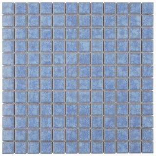 SomerTile 12 x 12-inch Tidal Square 1-in Baltic Porcelain Mosaic Tile (Pack of 10)