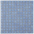 SomerTile 11.75x11.75-in Tidal Square 1-in Baltic Porcelain Mosaic Tile (Pack of 10)