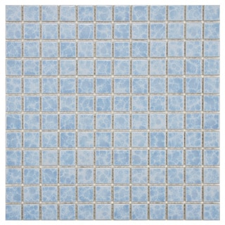 SomerTile 11.75x11.75-in Watermark Square 1-in Alboran Porcelain Mosaic Tile (Pack of 10)