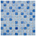 SomerTile 11.75x11.75-in Watermark Square 1-in Aegean Porcelain Mosaic Tile (Pack of 10)