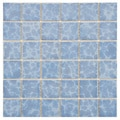 SomerTile 11.875x11.875-in Watermark Square 2-in Alboran Porcelain Mosaic Tile (Pack of 10)