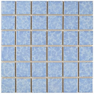 SomerTile 12.25 x 12.25-inch Watermark Square Alboran Porcelain Mosaic Tile (Pack of 10)