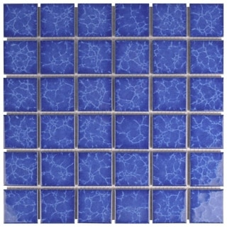 SomerTile 12.25 x 12.25-inch Watermark Square Catalan Porcelain Mosaic Tile (Pack of 10)