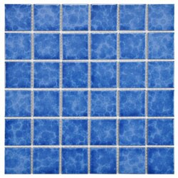 SomerTile 11.875x11.875-in Watermark Square 2-in Catalan Porcelain Mosaic Tile (Pack of 10)