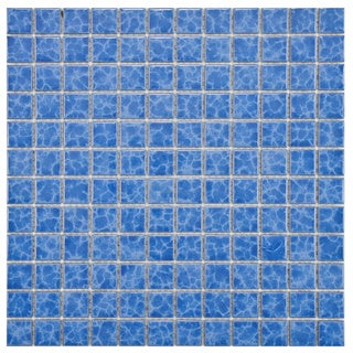 SomerTile 11.75x11.75-in Watermark Square 1-in Catalan Porcelain Mosaic Tile (Pack of 10)