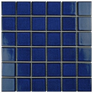 SomerTile 12.25 x 12.25-inch Ocean Square Bering Porcelain Mosaic Tile (Pack of 10)