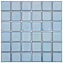 SomerTile 11.875x11.875-in Ocean Square 2-in Caribbean Porcelain Mosaic Tile (Pack of 10)