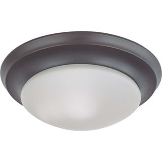 Nuvo Interior Home 1-light Mahogany Bronze Flush Mount Fixture