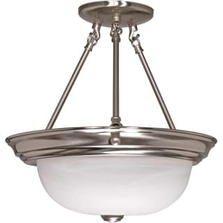 Nuvo Energy Saver 3-light Brushed Nickel Flush Mount Fixture