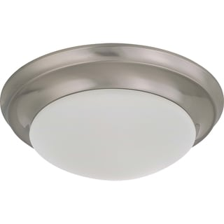 Nuvo Energy Saver 1-Light 18-Watt Brushed Nickel Flush Mount Fixture