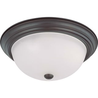 Nuvo Energy Saver 3-light Mahogany Bronze Flush Mount Fixture