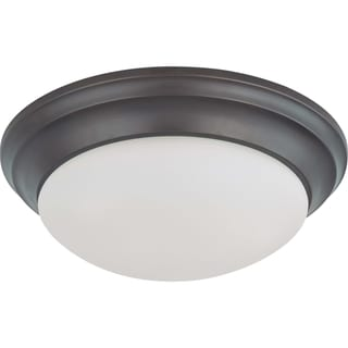 Nuvo Energy Saver 2-light Mahogany Bronze Flush Mount Fixture