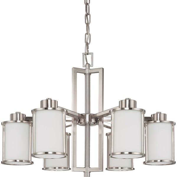Nuvo Odeon 6-light Brushed Nickel Chandelier