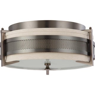 Nuvo Diesel 3-light Hazel Bronze Flush Mount Fixture