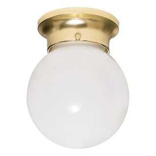 Nuvo Energy Saver 1-light Polished Brass Flush Mount Fixture
