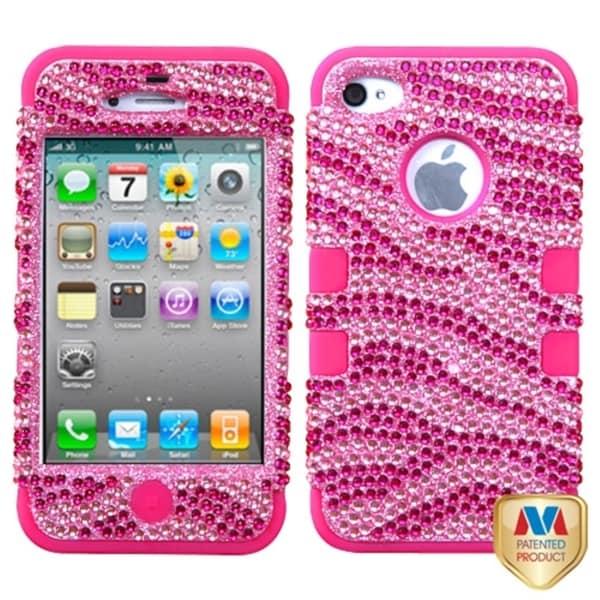MYBAT Zebra/ Hot Pink Case for Apple iPhone 4/ 4S