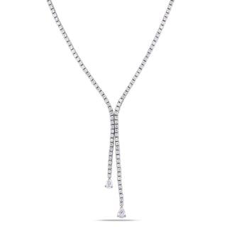 Miadora 18k White Gold 4 1/3ct TDW Diamond Necklace (G-H, SI1-SI2)