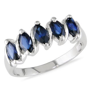 Miadora 14k White Gold Sapphire Ring