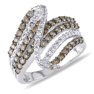 Miadora 14k White Gold 1ct TDW Brown and White Diamond Ring (G-H, I1-I2)