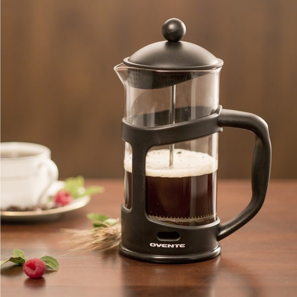 Ovente 34-Ounce Black French Press Coffee Maker