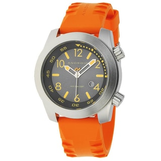 Android Men's 'Octopuz' Orange Rubber Strap Watch
