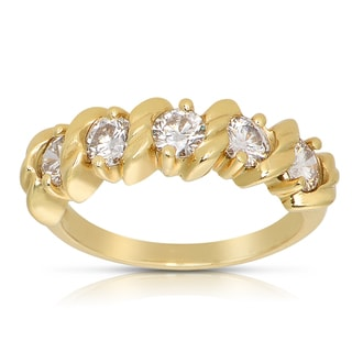 18k Yellow Gold 1ct TDW Diamond Fashion Ring (G-H, SI1-SI2)