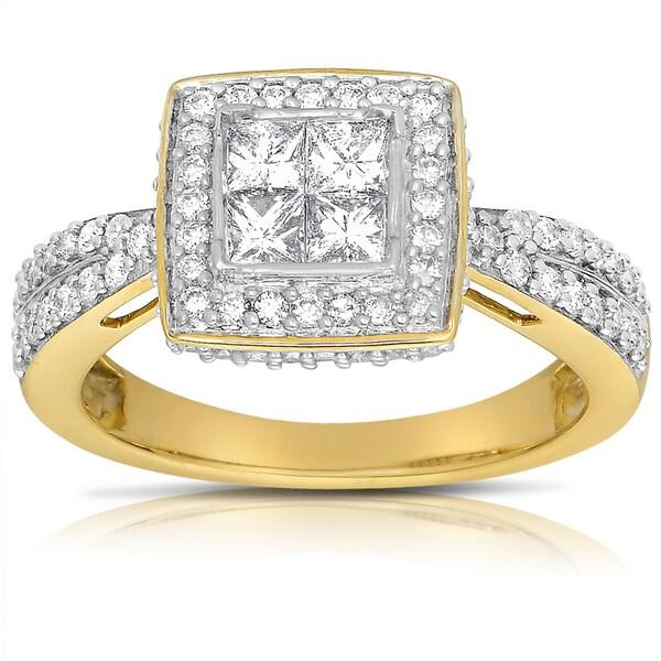 14k Two-tone Gold 1ct TDW Diamond Engagement Ring (G-H, I1-I2)