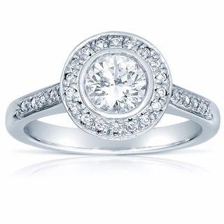 18k White Gold 1ct TDW Certified Diamond Engagement Ring (G-H, SI1-SI2)