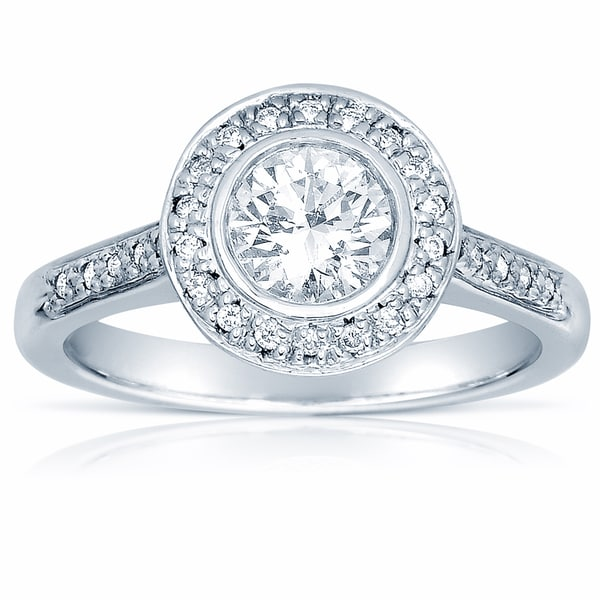 18k White Gold 1ct TDW Certified Diamond Engagement Ring (G-H, SI1-SI2)