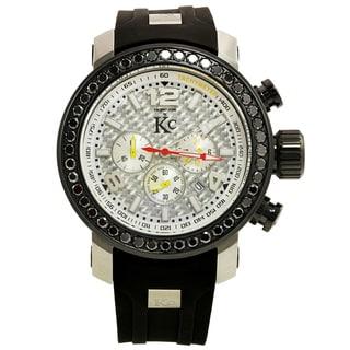 Techno Com KC Black Diamond Carbon Fiber Watch