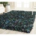 Safavieh Hand-woven Chic Green Shag Rug (8' x 10')